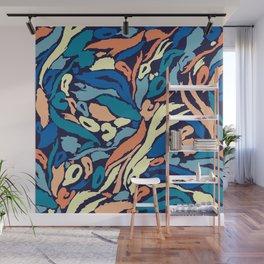 Animal Print -Ocean Blues Wall Mural