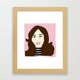 Knock Knock! Tzuyu Pink Framed Art Print