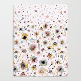 Wild flowers sunshine gold Poster