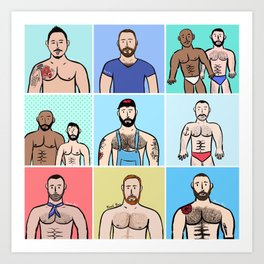Beard Boy: Boys, Boys, Boys Art Print