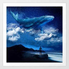 Night Whale Art Print