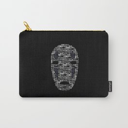No-Face Mask Typograph Carry-All Pouch