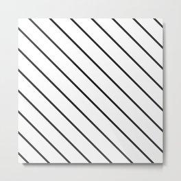 Black and white minimal 10 Metal Print