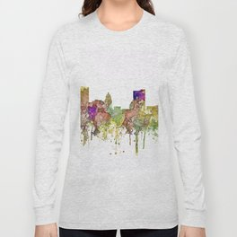 Fort Wayne, Indiana Skyline Long Sleeve T-shirt