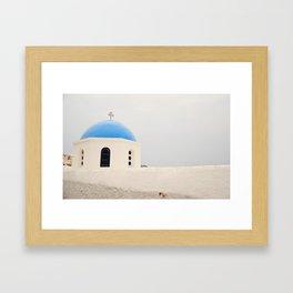 Grecian Blue Framed Art Print
