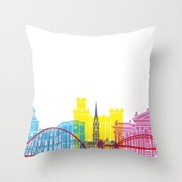 Newcastle skyline pop Throw Pillow