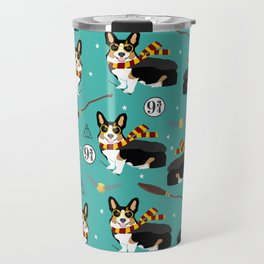 Corgi tricolored witch wizard magic dog breed gifts Travel Mug