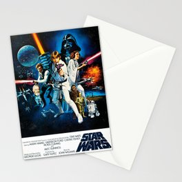 A New Hope Movie Poster George Lucas Han Solo Luke Skywalker Stationery Cards