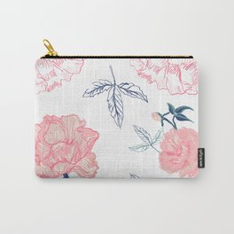 Vintage roses with indigo palette Carry-All Pouch