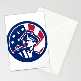 American Patriot USA Flag Icon Stationery Cards