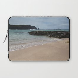 Sandwood Bay with Sea Stack Laptop Sleeve