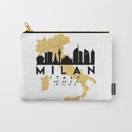 MILAN ITALY SILHOUETTE SKYLINE MAP ART Carry-All Pouch