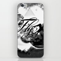 decal iPhone & iPod Skins featuring fly away bw by haroulita