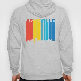 Retro 1970's Style Asheville North Carolina Skyline Hoody