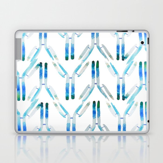 IgG Antibody, Science Art Laptop & iPad Skin