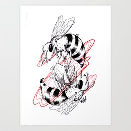 Bee Gem Art Print