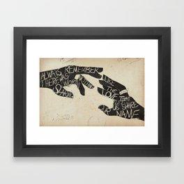 The Avett Bros - Lyric Art Framed Art Print