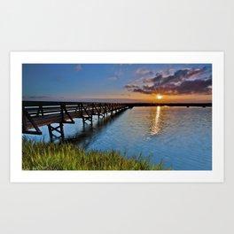 Bolsa Chica Wetlands Sunrise  6/27/14 Art Print