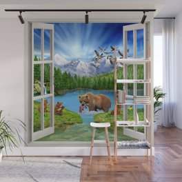 Window to the Great Bear Wilderness Wall Mural