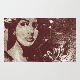 untitled #28914: Amaranth (sunflower bikini girl) Rug