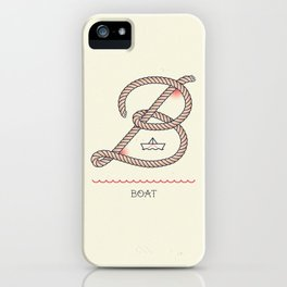 Ahoy! Letter B iPhone Case