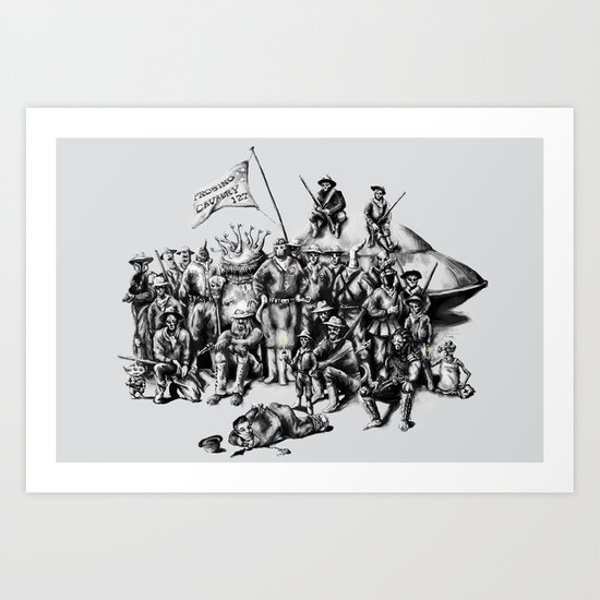 Martian Mounties Art Print