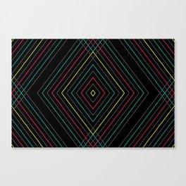Neon Diamond Pattern Canvas Print