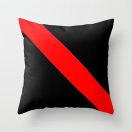 Oblique red and black Throw Pillow