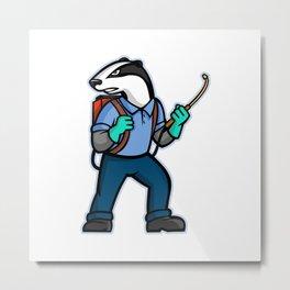 Badger Pest Control Mascot Metal Print