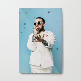 Mac Miller Rapper Hip Hop Music Singer Metal Print