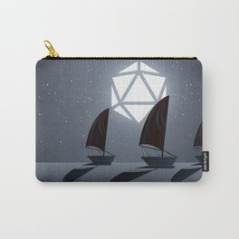 Boats in the Ocean Starry Night D20 Dice Full Moon Tabletop RPG Landscape Carry-All Pouch