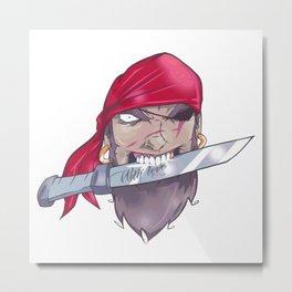Pirate and dagger Metal Print