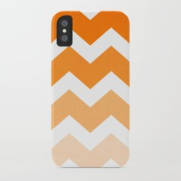 Ombre Chevron- Dreamsicle iPhone Case