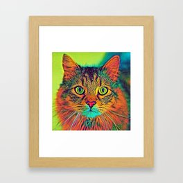 AnimalColor_Cat_ 011_by_JAMColors Framed Art Print