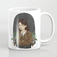 peggy carter Mugs featuring Agent Carter by strangehats