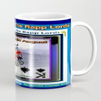 merlin Mugs featuring KING MERLIN by KEVIN CURTIS BARR'S ART OF FAMOUS FACES