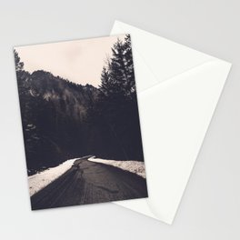 Foggy Forest Road - Lets Get Wild Nature Photography Stationery Cards