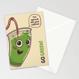 No to plastic cups! Stationery Cards