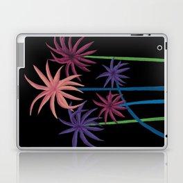 Neon Palms on Black Laptop & iPad Skin