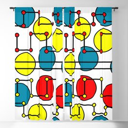 colorful dots and circles Blackout Curtain