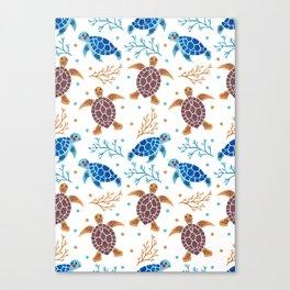 The Sea Turtle Pattern Canvas Print