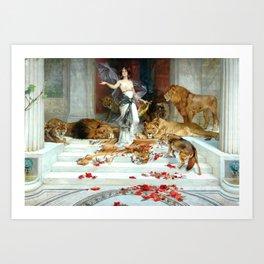Wright Barker Circe Nyph Goddess Of Magic Witch Enchantress Turn Men Into Animals Art Print
