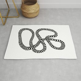 Striped Lump of Rope Rug