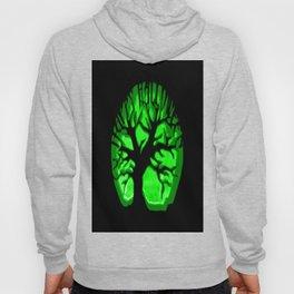 Happy HaLLoween Brain Tree : Green & Black Hoody