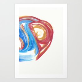 Torn in the Cycle 3 Art Print