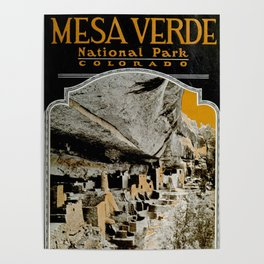 Vintage Mesa Verde National Park Poster (1919) Poster