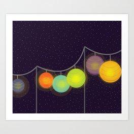 Night Party Art Print
