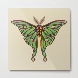 Spanish Luna Moth Metal Print