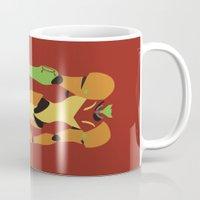 metroid Mugs featuring Metroid - Minimalist by Adrian Mentus