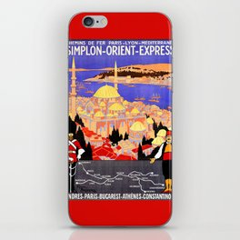 Vintage Simplon Orient Express London Constantinople iPhone Skin